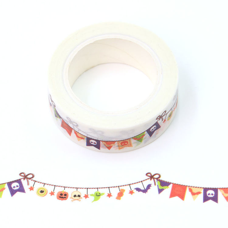 15mm x 10m CMYK Party bunting Washi Tape