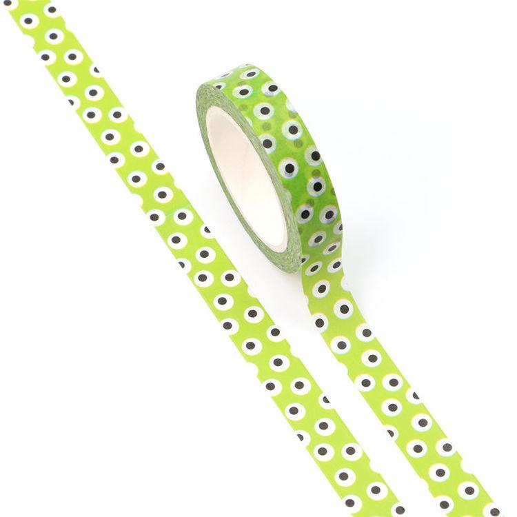 10mm x 10m CMYK green dot Washi Tape