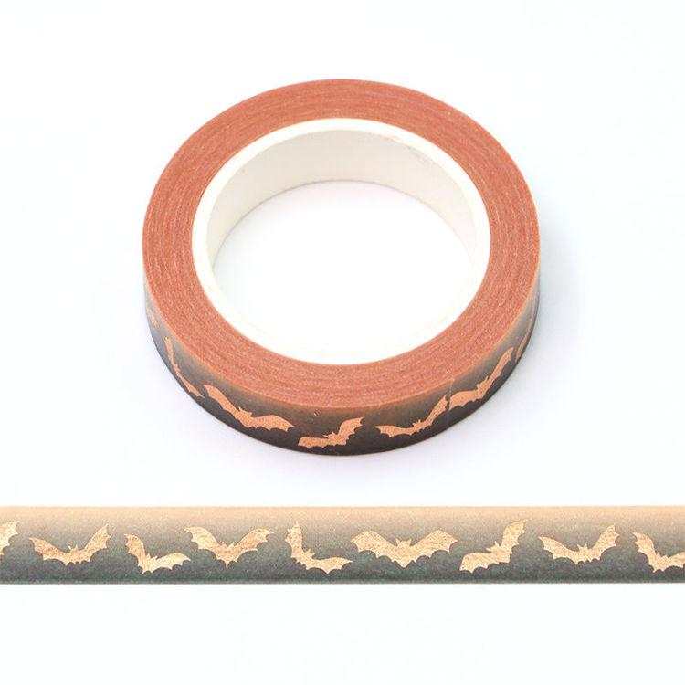 10mm x 10m gold Foil CMYK bat Washi Tape