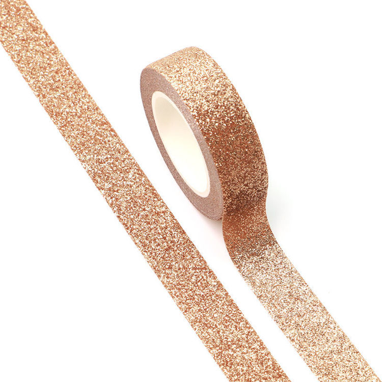 15mm x 5m Rose gold Sparkle Washi Tape