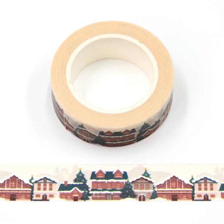 15mm x 10m CMYK Snow House Washi Tape