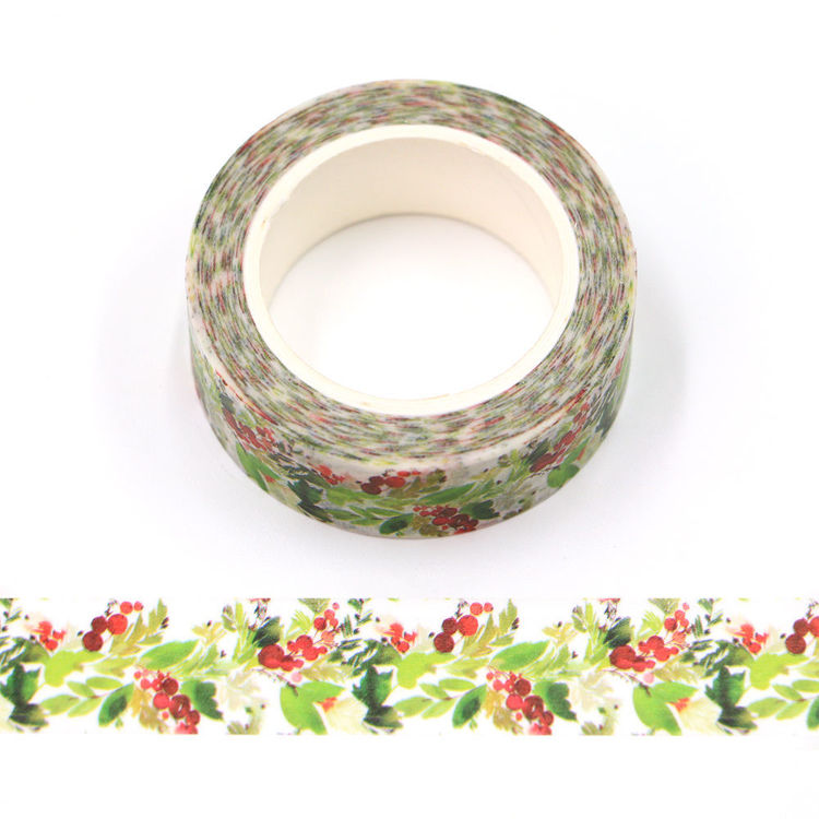 15mm x 10m CMYK Christmas Flower Washi Tape