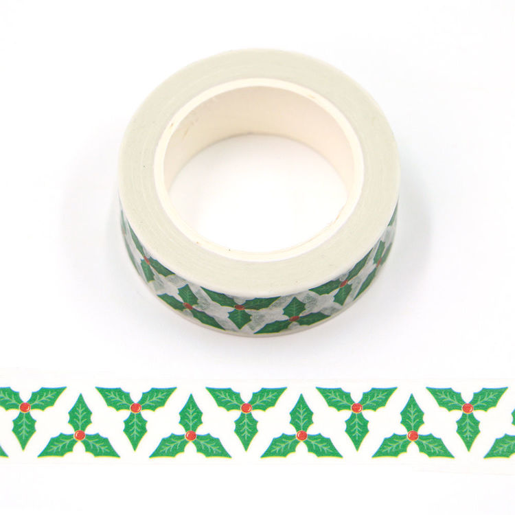 15mm x 10m CMYK Christmas Leaves Washi Tape