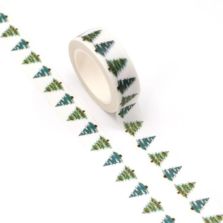 15mm x 10m CMYK Christmas Tree Washi Tape
