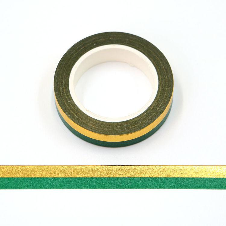 10mm x 10m 3425C+G2 Gold foil stripes