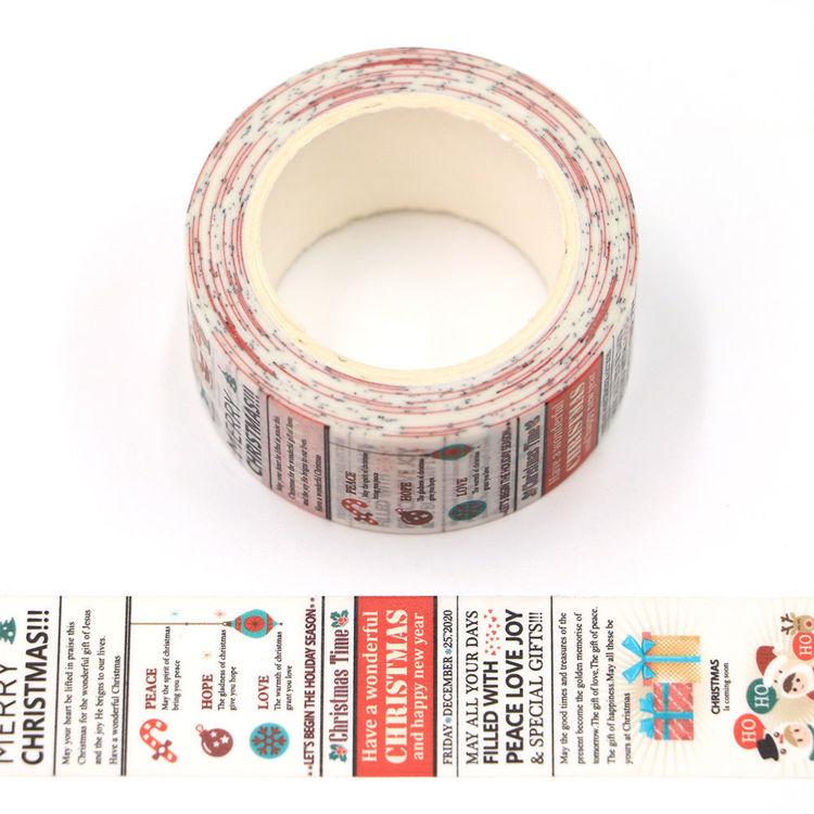 20mm x 10m CMYK Christmas Greeting Washi Tape