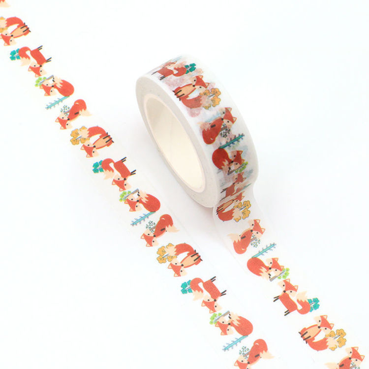 15mm*10m forest fox printing washi tape