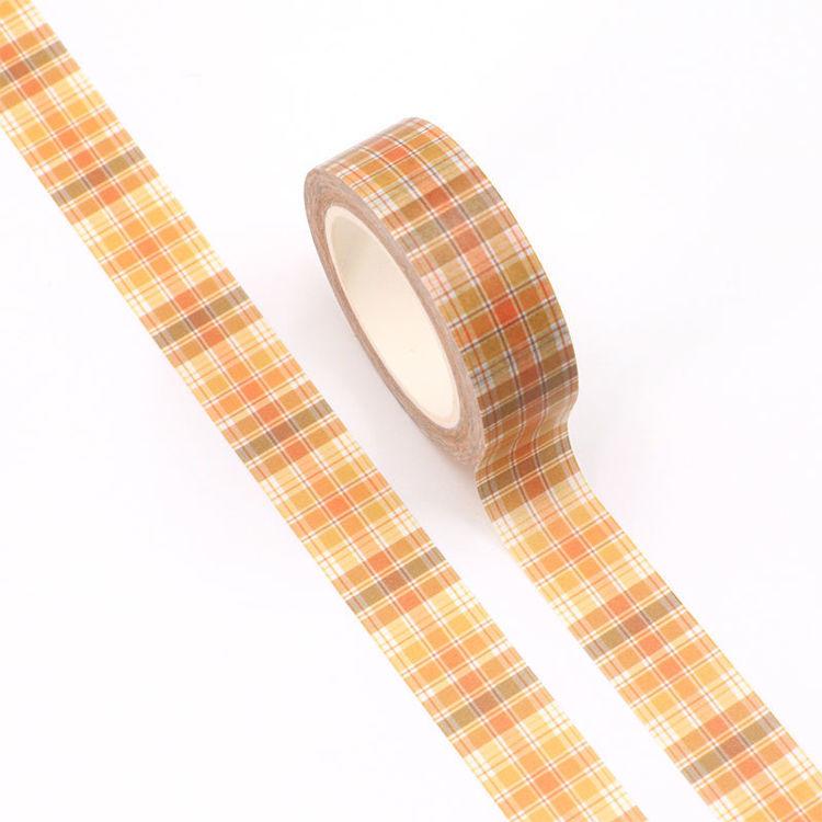 15mm*10m orange grid washi tape