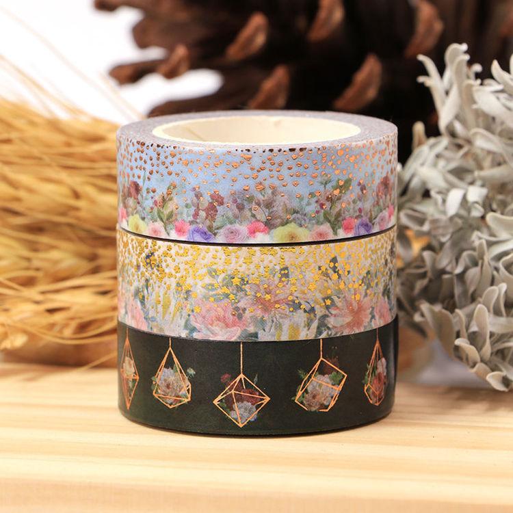 Foil Floral Washi Tape
