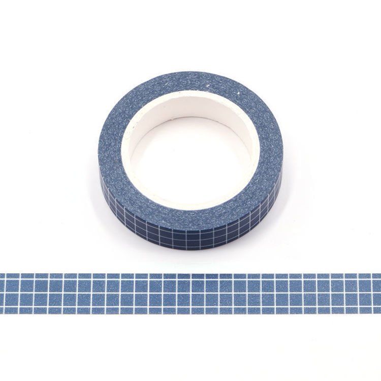 10mm Dark Blue PMS Lattice Washi Tape