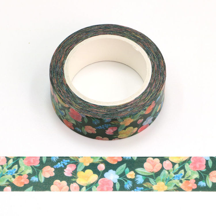 15mm x 10m CMYK Colorful Floral Pattern Washi Tape