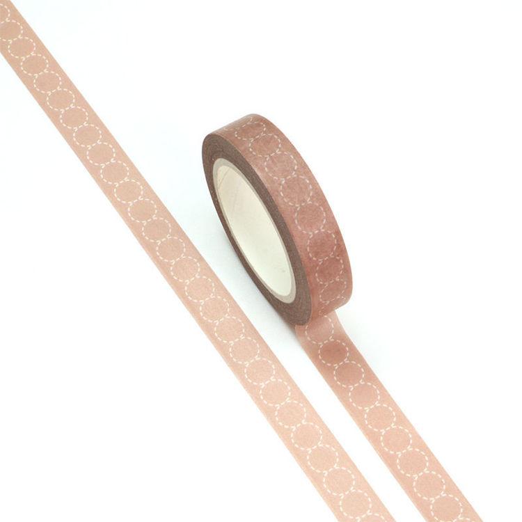 10mm x 10m CMYK Circle Pattern Washi Tape
