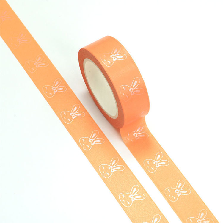 15mm x 10m 163C+Pink Foil Bunny Washi Tape