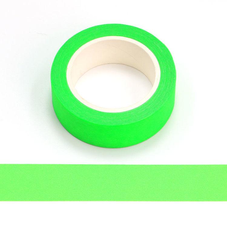 15mm x 10m Fluorescent Green Washi Tape