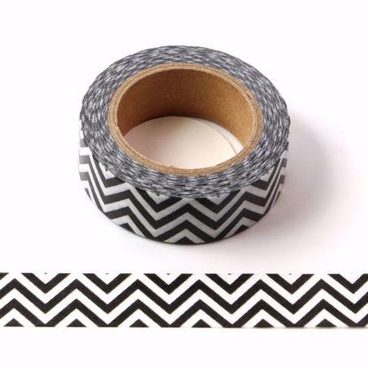 black wave washi tape