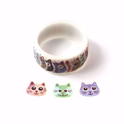 Many kinds of cats stickers roll washi tape